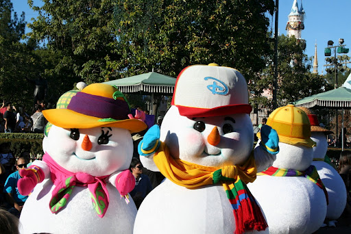 """A Christmas Fantasy Parade"" at Disneyland"